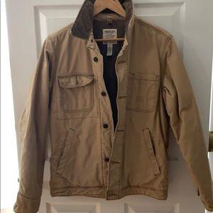 Tan canvas coat